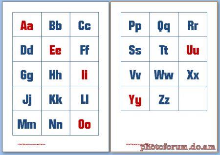 Распечатать английский алфавит карточки для 2 класса